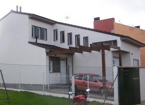 Casa de madera entramado ligero fotos