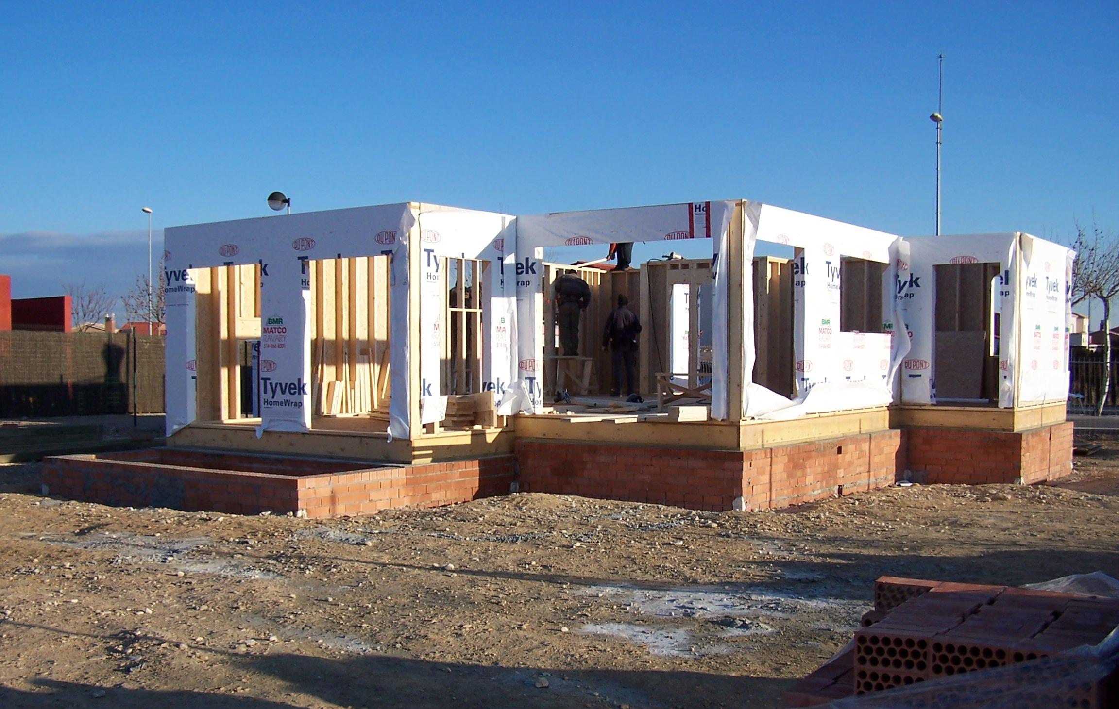 Casas de madera canadienses construcciones canadienses - Estructura casa madera ...